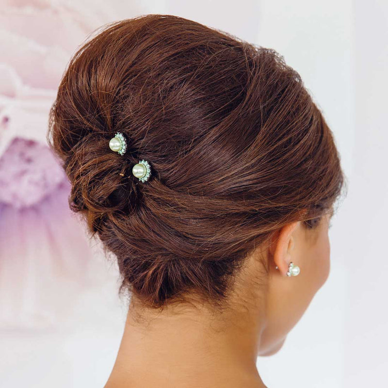 Perfect Pistachio Green Pearl Hair Pins