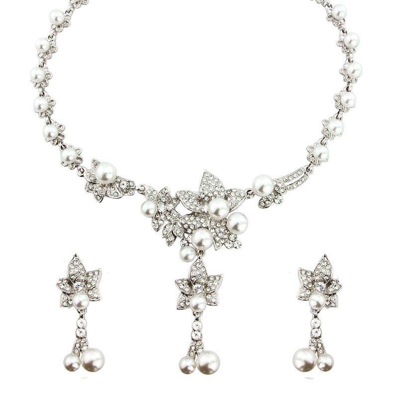 Petals and Pearls Bridal Jewellery Set