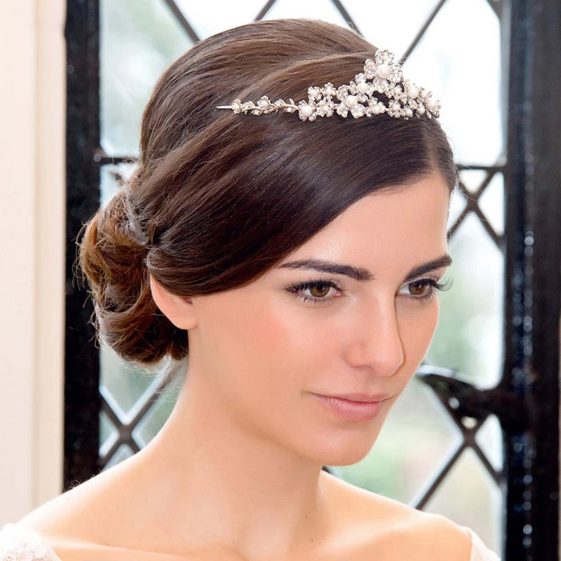 Posy of Grace Floral Wedding Tiara