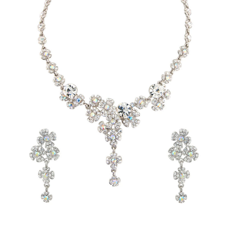 Precious Bouquet Crystal Flower Jewellery Set