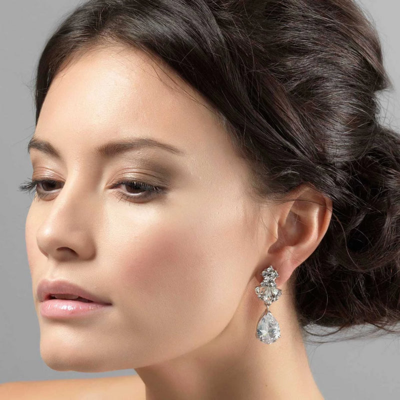 Precious Heiress Cubic Zirconia Drop Earrings