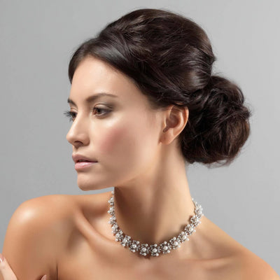Model wears Precious in Pearls Vintage Necklace