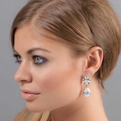 Model wears Precious Treasure Drop Earrings