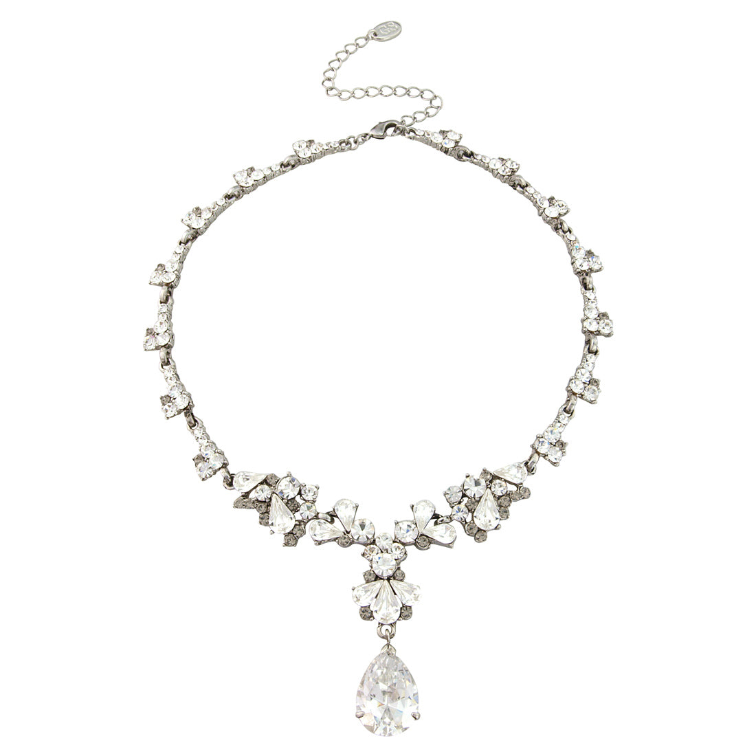 Precious Treasure Crystal Y Necklace