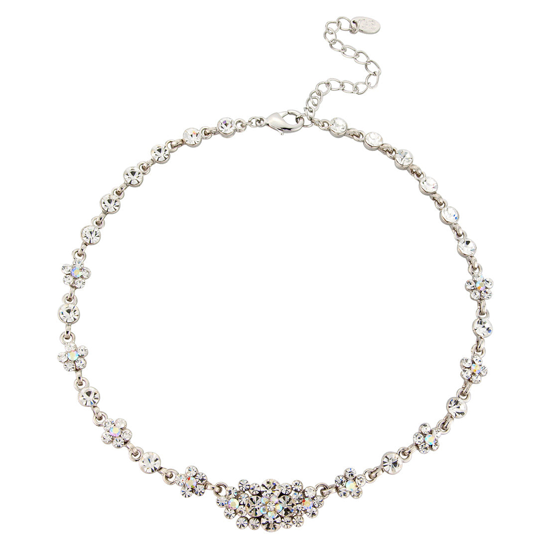 Radiant Starlet AB crystal wedding necklace