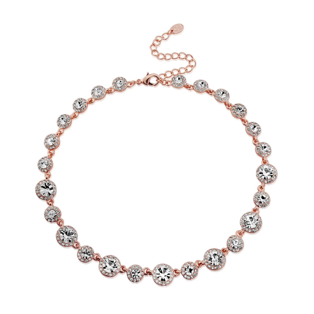 Rose Gold Starlet crystal wedding necklace