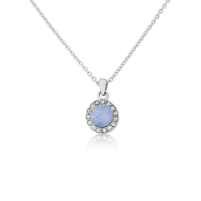 Shimmering Sky pale blue crystal wedding necklace pendant