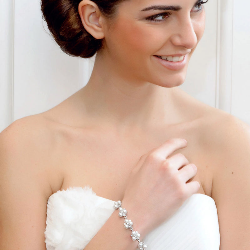 Simply Pearl crystal wedding bracelet