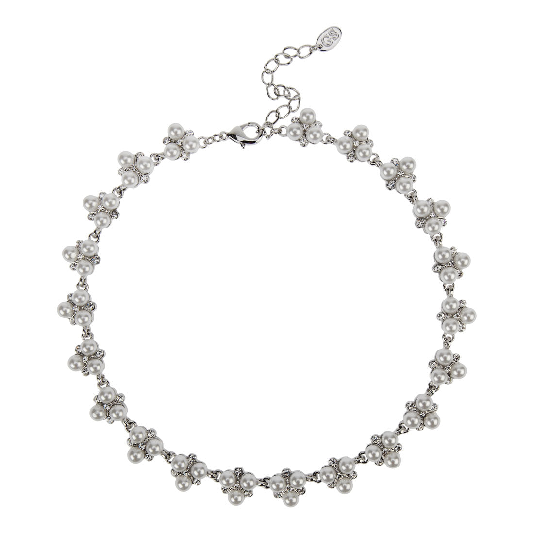 Simply Pearl Cluster Collar Bridal Necklace