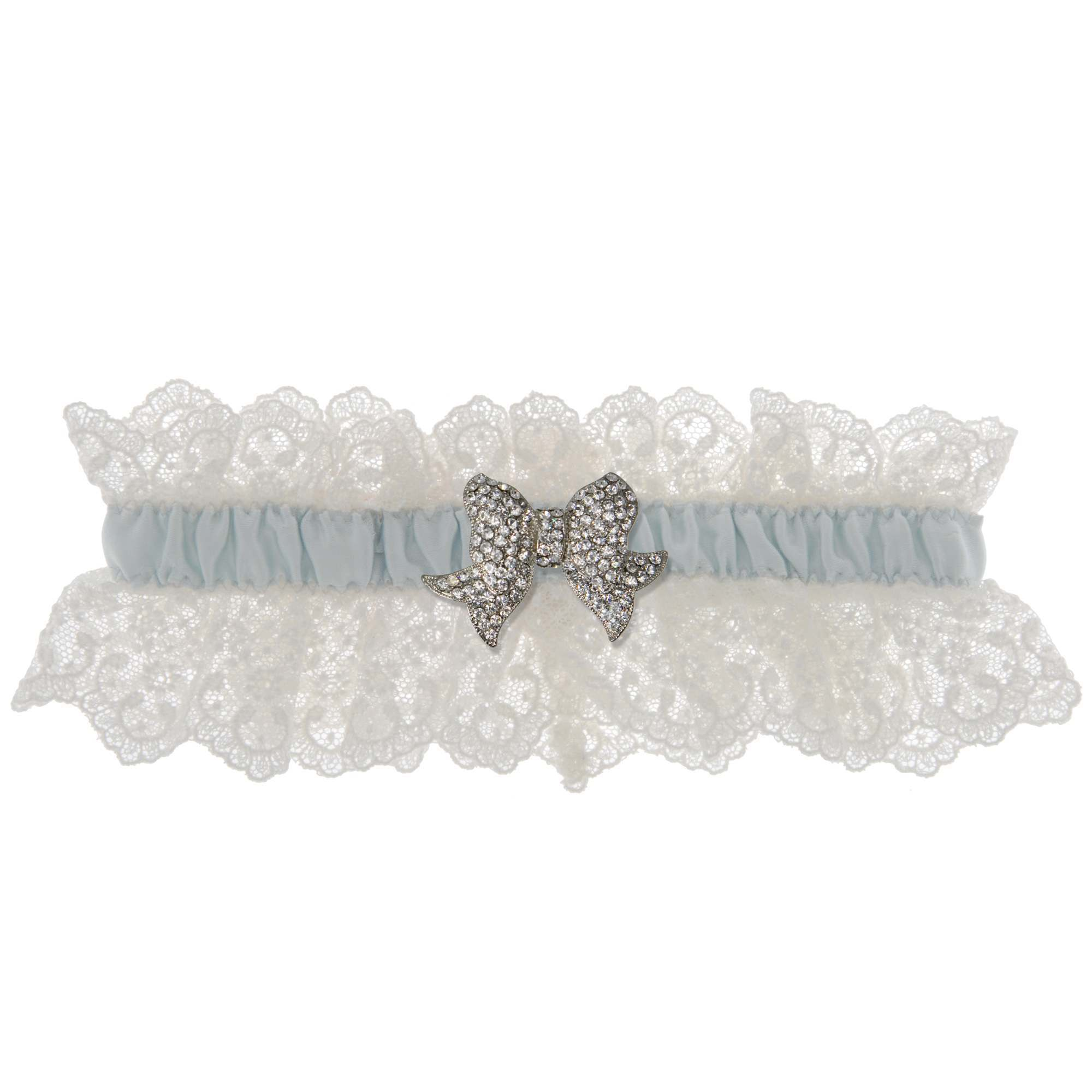 Something Blue Wedding Garter - Ivory