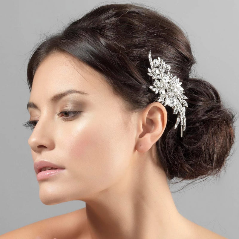 Sparkling Extravagance crystal floral wedding headpiece