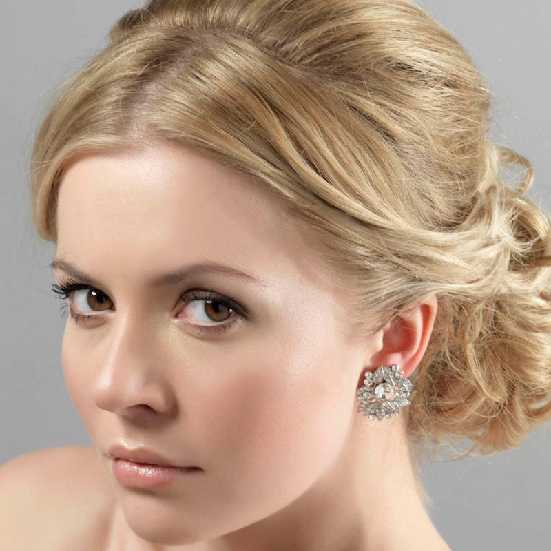 Sparkling Starlet crystal stud wedding earrings