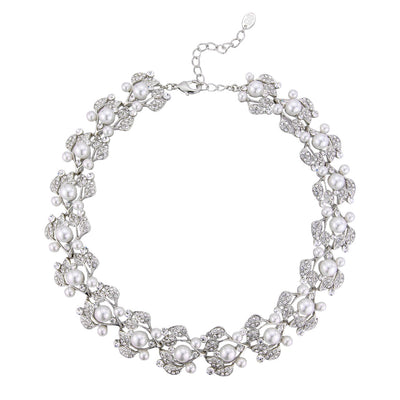 Starlet in Pearls crystal wedding necklace