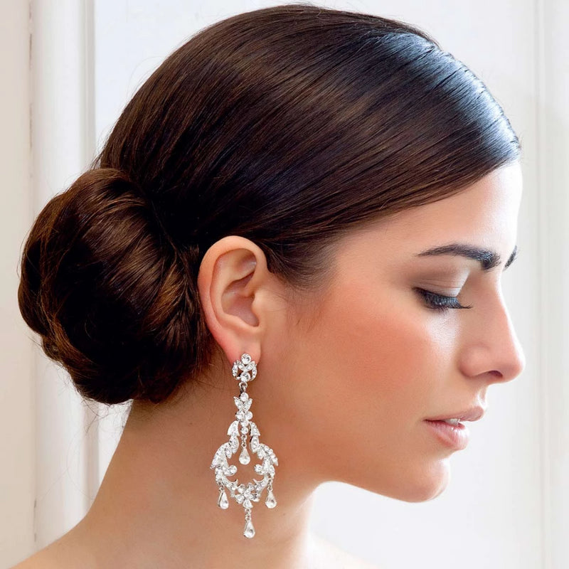 Starlet of Elegance Wedding Chandelier Earrings