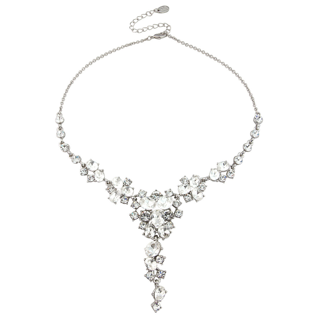 Starlet of the Forties Crystal Y Necklace