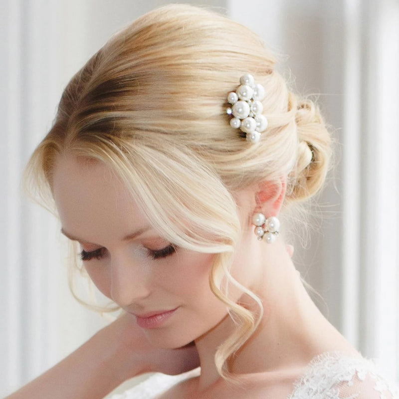 Statement of Pearl Bridal Hair Comb