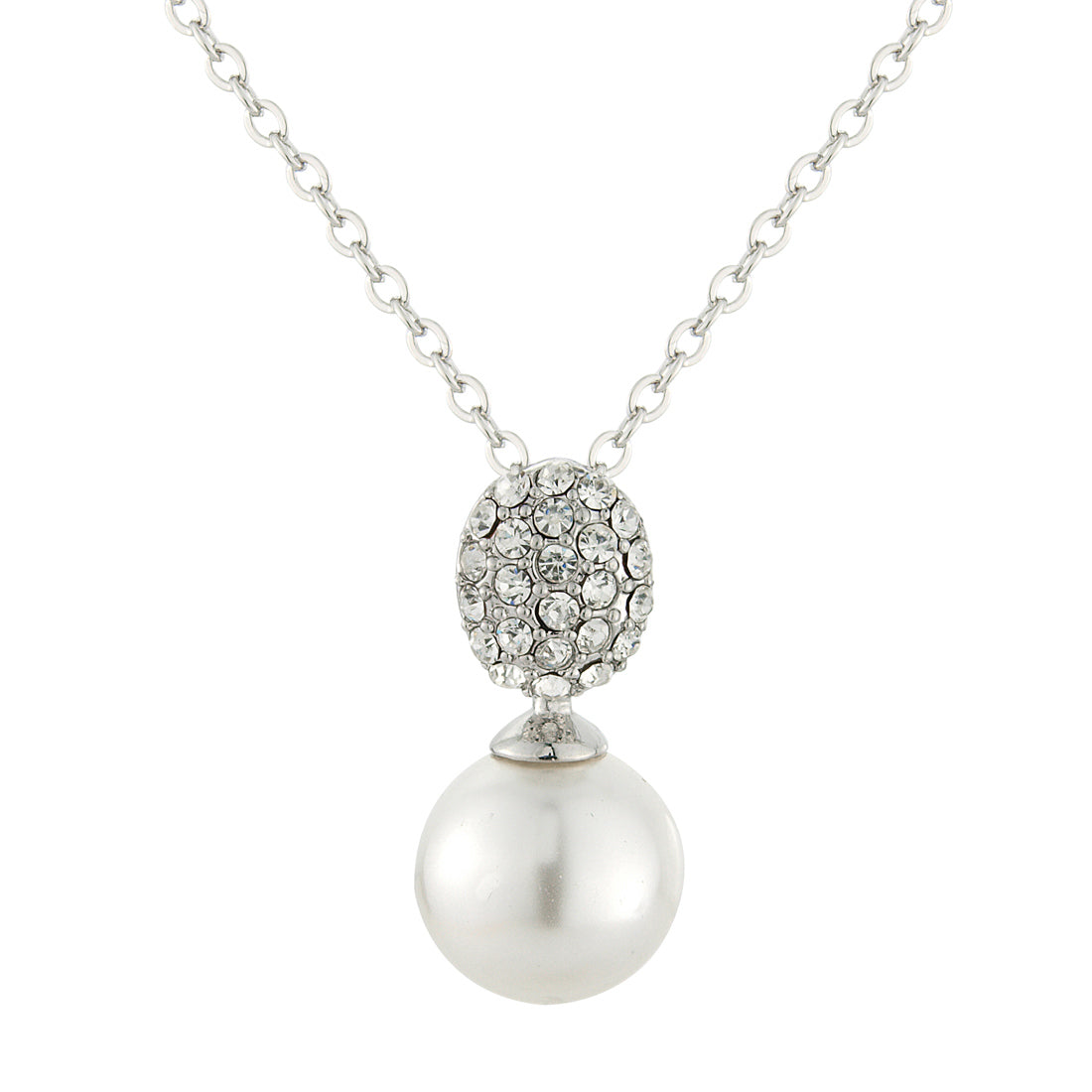 Timeless Elegance Pearl Drop Bridal Pendant Necklace