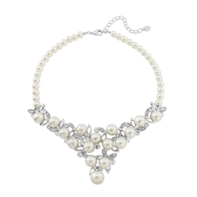 Timeless Grace Statement Pearl Necklace
