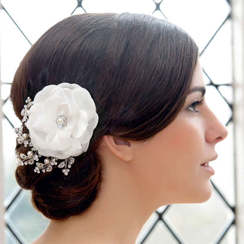 Timeless Petals Ivory Bridal Hair Flower