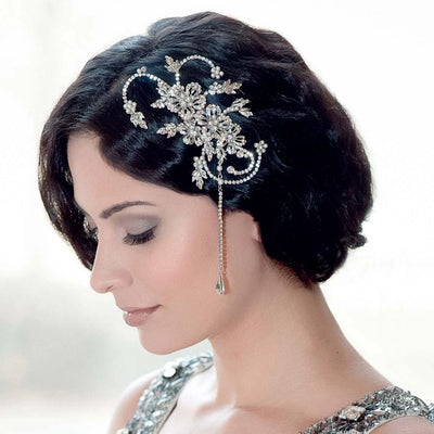Twenties Heiress Wedding Hair Comb styled in Marcel Wave hairstyle