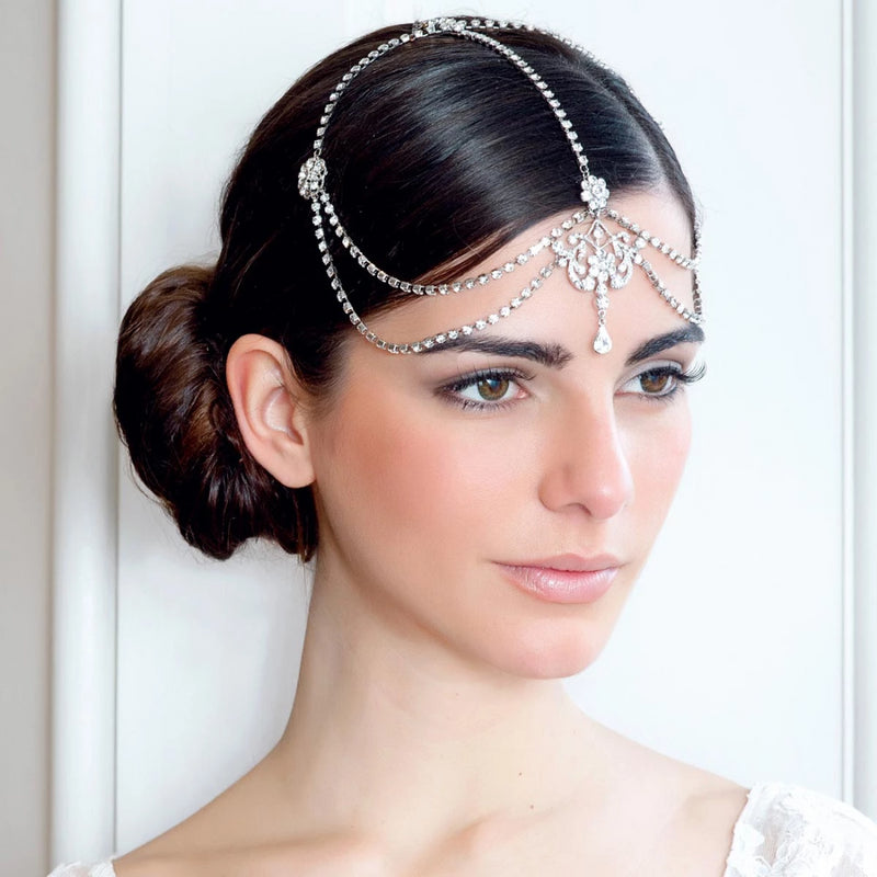 Twenties Sweetheart Chain Wedding Headpiece
