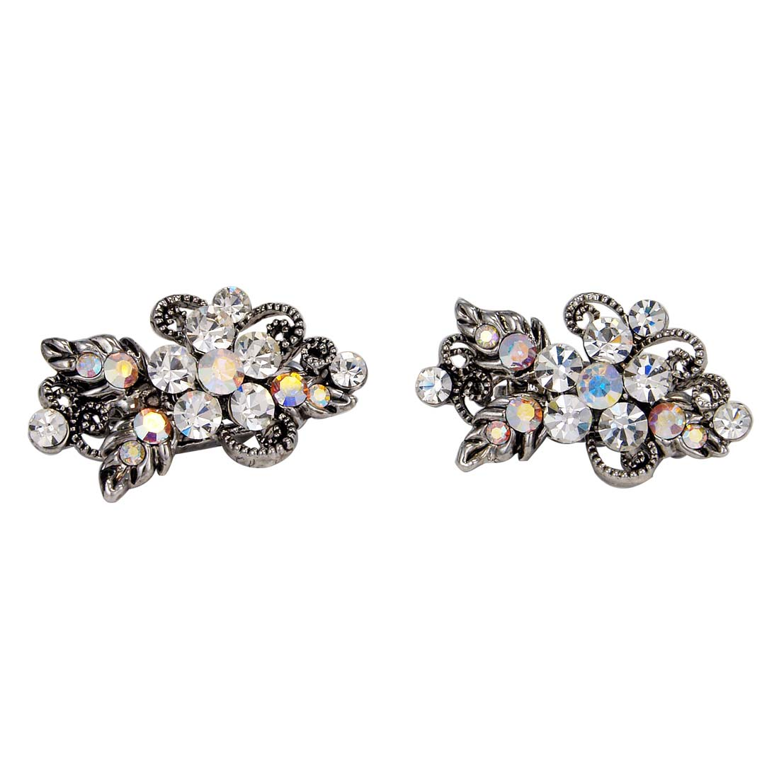 Two of a Kind Small Crystal Hair Slides