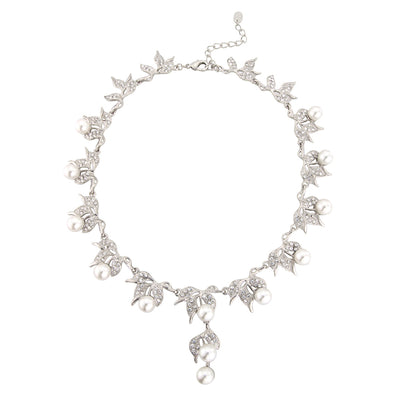 Vine of Pearl Leaf Necklace