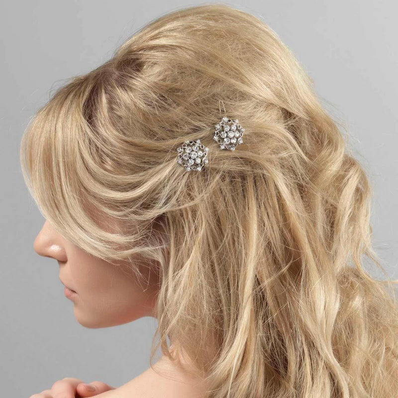 Vintage Charmer Crystal Hair Slides