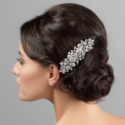 Vintage Dream Large Crystal Hair Comb shown on our model bride