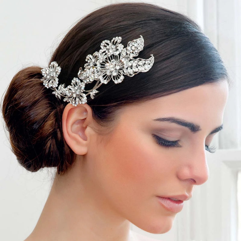 Vintage Fantasy Crystal Flower Wedding Headpiece