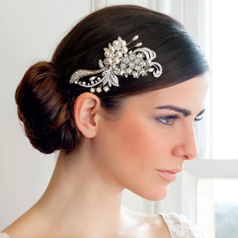 Vintage Grace Pearl Wedding Headpiece