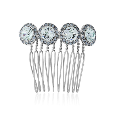 Waterfall of Love Pale Blue Crystal Bridal Hair Comb