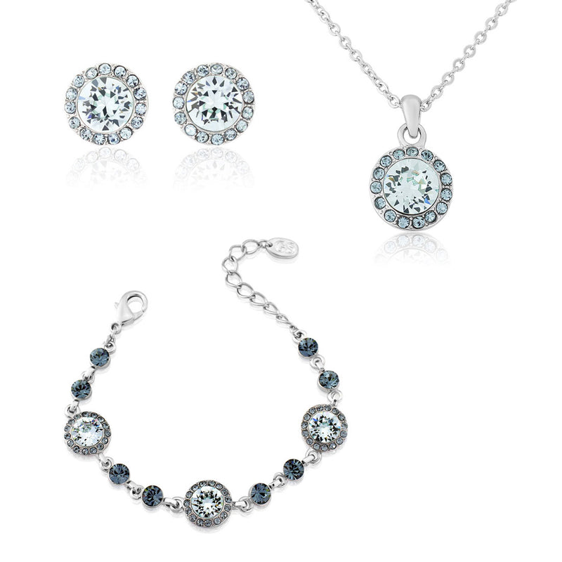 Waterfall of Love Blue Crystal Jewellery Set