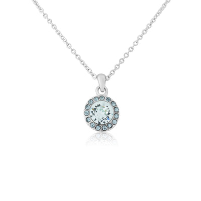Waterfall of Love Blue Crystal Pendant Bridal Necklace