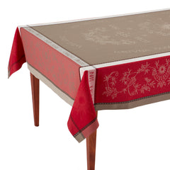 Teflon Treated Jacquard French Tablecloth