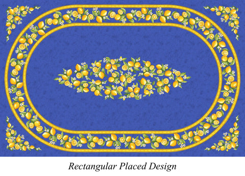 Rectangular Placed Design French Tablecloth