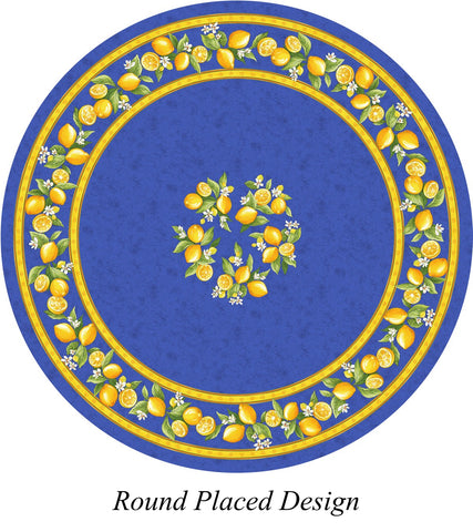 Round Placed Design French Tablecloth
