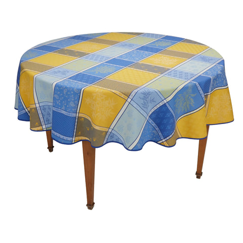 Valbonne Jacquard Round French Tablecloth
