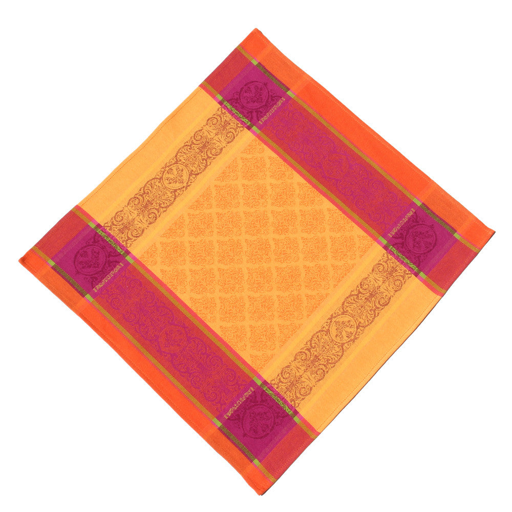 Valbonne Jaune/Orange French Jacquard Napkin