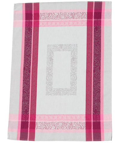 Bargeme Gris/Rose French Jacquard Dishtowel