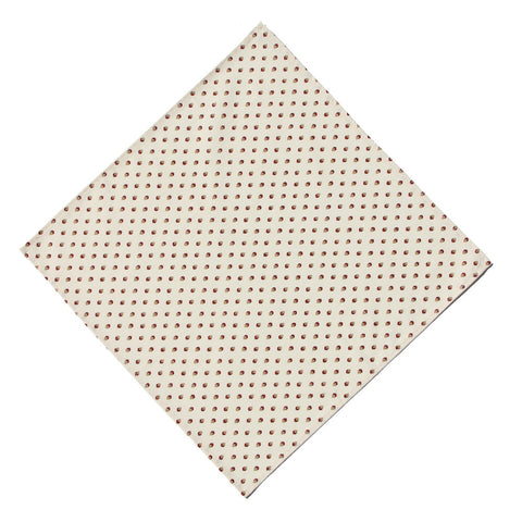 Esterel Ecru/Bordeaux French Napkin