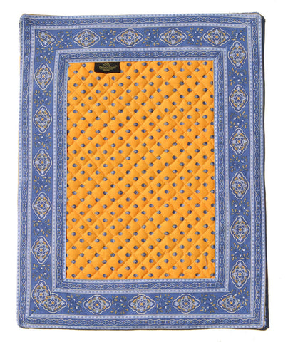 Esterel Jaune/Bleu Bordered French Place Mat