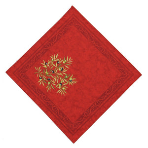 Clos des Oliviers Rouge French Napkin