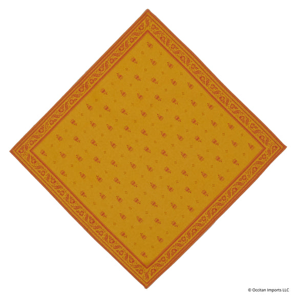 Durance Yellow Jacquard French Napkin