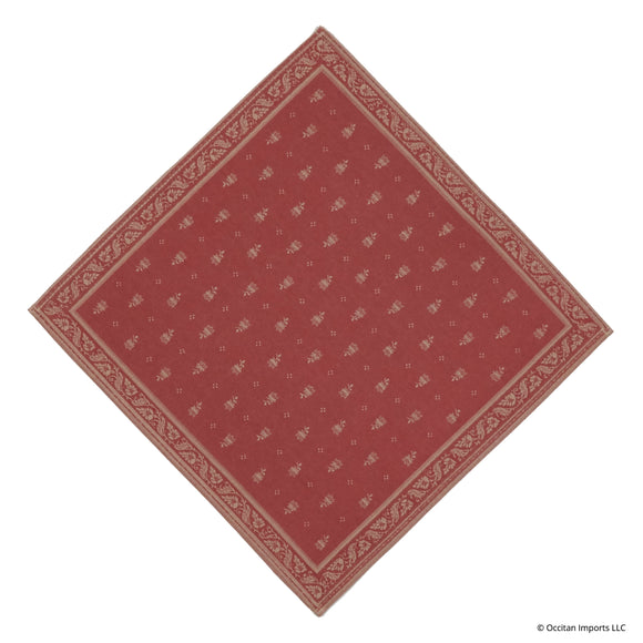 Durance Red Jacquard French Napkin