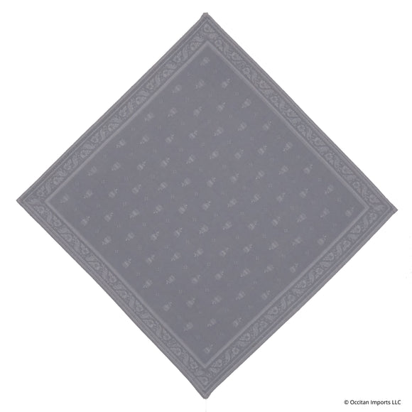 Durance Gray Jacquard French Napkin
