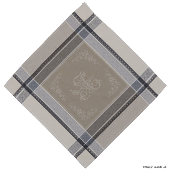 Romantique Beige/Gray Jacquard French Napkin