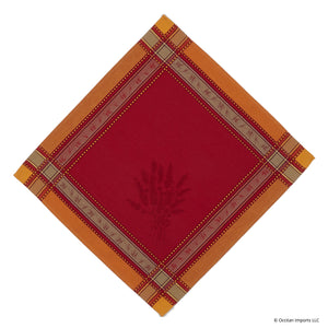 Senanque Rouge/Orange French Jacquard Napkin