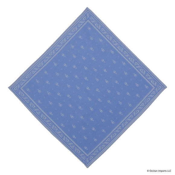 Durance Blue Jacquard French Napkin