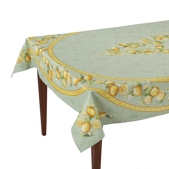 Citrons Vert Rectangular French Tablecloth